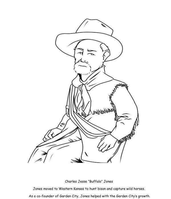 Buffalo Jones Coloring Page