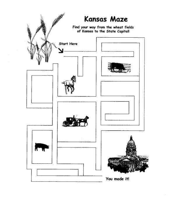 Kansas Maze Activity Page