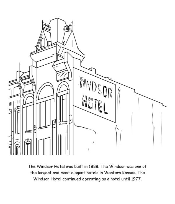 Windsor Hotel Coloring Page