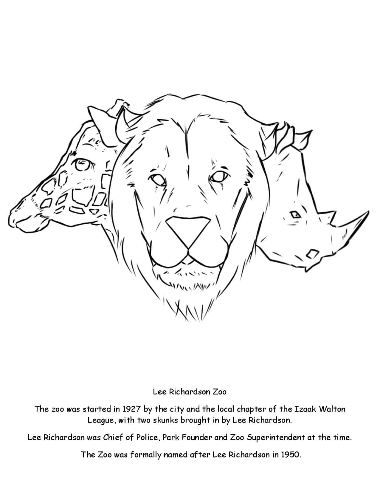 Lee Richardson Zoo Coloring Page