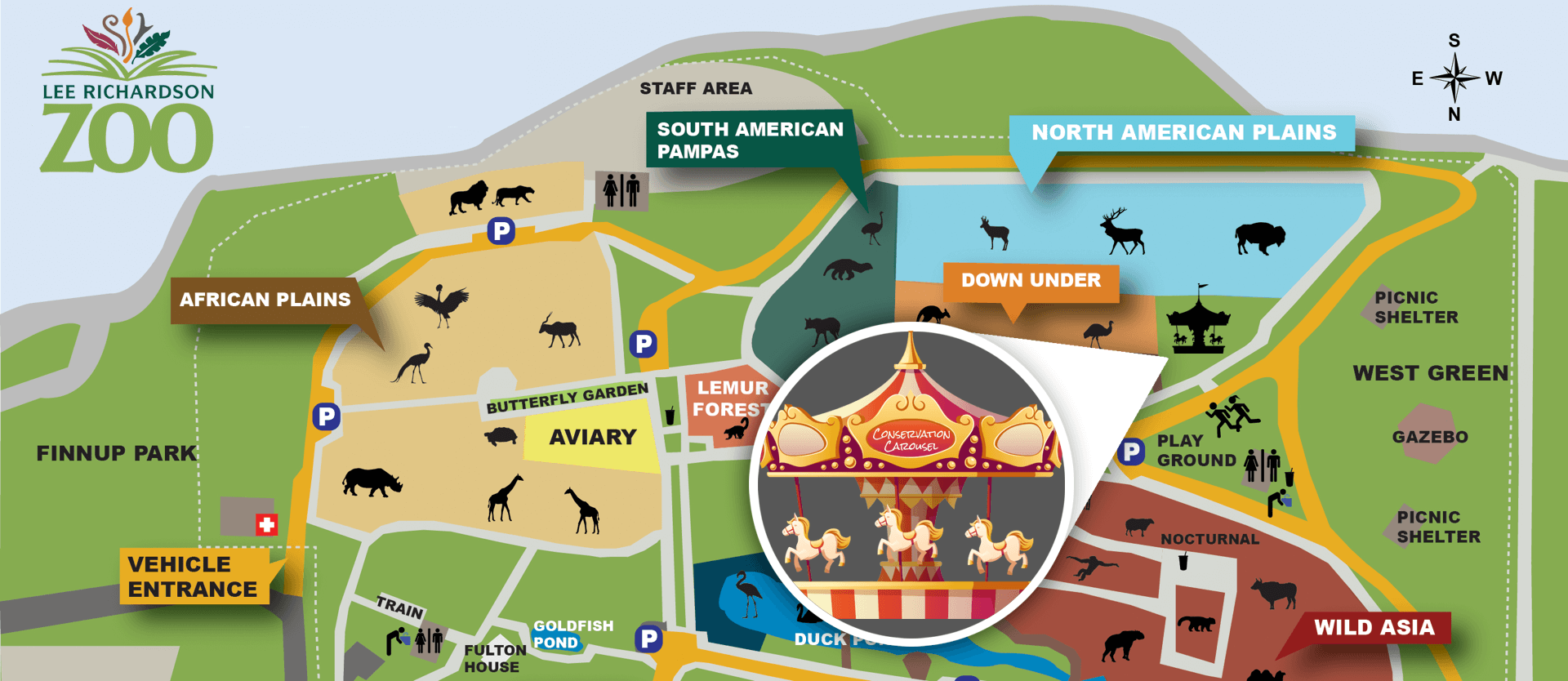 Conservation Carousel Location